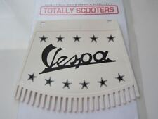 VESPA REMADE METALPLAST BLACK AND WHITE MUDFLAP WITH TASSELS - TOP QUALITY