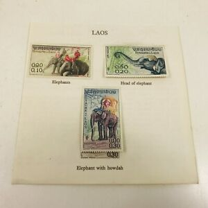 Laos 1958  Asian Elephants Stamps