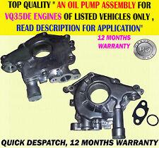 Moteur pompe à huile assemblage pour 350Z fairlady 3.5 Z33 02-12 murano 3.5 V6 VQ35DE