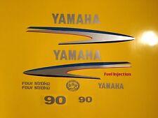 Yamaha 75/80/90hp four stroke Outboard Decal Sticker Kit Marine vinyl