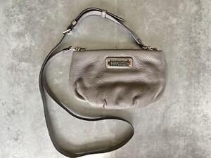 Marc by Marc Jacobs Small Metallic Gray Pebbled Leather Crossbody Purse
