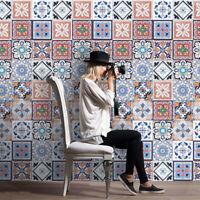 25pcs / 1pc Self Adhesive Tile Art Wall Decal Sticker DIY Kitchen Bathroom Decor