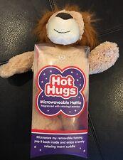Aroma Home Hot Hugs Microwaveable Plush Lion Fragranced w/Lavender Warm Cuddle