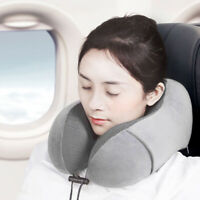 KQ_ FT- Portable U Shape Memory Foam Cushion Neck Rest Support Travel Flight Nap