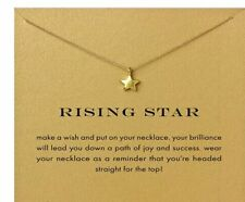 """STAR Necklace Celestial Jewelry Gold dipped 16-18"""" Graduation student teacher"""