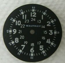 Waltham military wrist watch dial