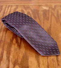 VINTAGE ANNI 70 BRITTANIA Lucido disegno geometrico Uomo S cravattino cravatta