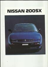 NISSAN 200SX SALES BROCHURE MARCH 1989