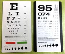 Snellen and Rosenbaum Pocket Eye Chart - Pack of 2 Cards Ship from USA