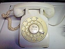 Western Electric 500 set dial telephone WHITE  - 60's ------------right of C
