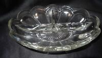 Imperial Glass Colonial Clear Divided Vegetable Relish Bowl Dish Made in USA