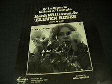Hank Wiiliams Jr Number One follows Number One Eleven Roses 1972 promo ad