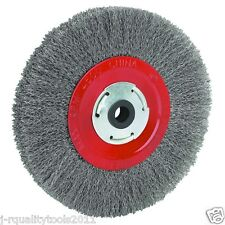 "8"" INCH ROUND STEEL WIRE BRUSH WHEEL FOR BENCH GRINDER"