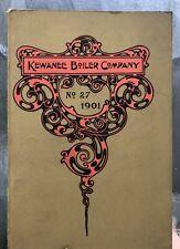 1901 Antique Kewanee Bioler Furnace Brochure Catalog IL Industrial Complete