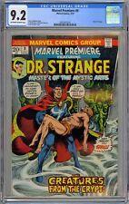 Marvel Premiere Feat Dr. Strange #9 CGC 9.2 NM- OwWp Marvel Comics 1973 Brunner