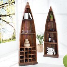 Bootsregal BORNEO Weinregal aus recyceltem Holz Bücherregal Schrank Holzregal
