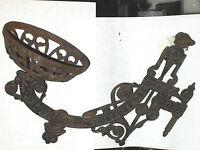 Antique Victorian Eastlake Oil lamp Sconce W/Mirror Bracket