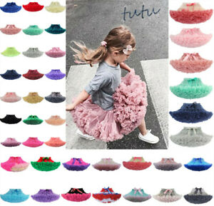 UK Girl Kid Tutu Skirt Kids Dance Tutu Petticoat Party Dress Ballet Fluffy layer