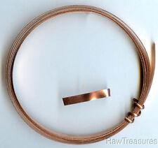 Solid Copper Wire Bezel / Strip 3/16 x 24 gauge 5 Feet