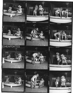 CD151-0363 VINTAGE B&W 8x10 CONTACT PROOF SHEET NUDE LESBIAN LESBO GIRLFRIENDS