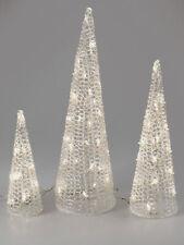 3er Set LED Deko Pyramiden aus Acryl Formano WA