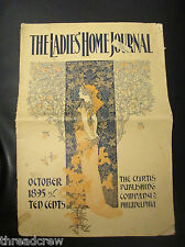 RARE! VINTAGE 1800s THE LADIES HOME JOURNAL MAGAZINE OCTOBER 1895 ISSUE COMPLETE