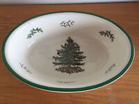 """Spode Christmas Tree England Oval Serving Bowl Oven to Table  Casserole  12 5/8"""""""