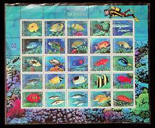 MICRONESIA NATIVE FISH MARINE LIFE 25v FINE MNH SHEET