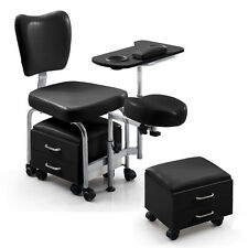 Salon Pedicure Foot Spa Nail Chair Stool Station Beauty Massage With Drawers