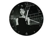 Horloges murales affichage 12 heures en verre pour la maison
