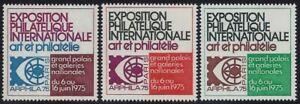 1975 Paris International Exposition Cinderella Poster Stamps/Labels Set Mint NH