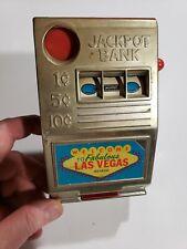 "Mini Las Vegas Slot Machine ""Jackpot Bank"" Metal Frontby Reno Plastic Mfg. Works"