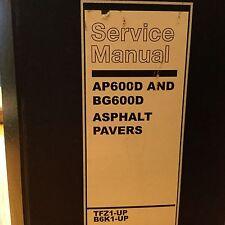 CAT Caterpillar AP600D BG600D SERVICE SHOP REPAIR MANUAL ASPHALT PAVER TFZ B6K
