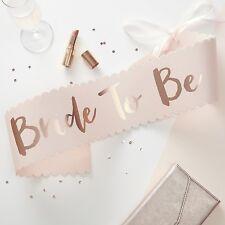 Schärpe BRIDE TO BE in Roségold