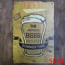 Metal Tin Sign beer summer time Bar Pub Vintage Retro Poster Cafe ART