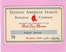 1950 Ted Williams 16 HR  At Boston Red Sox Ticket Pass Whitey Ford Debut/First K