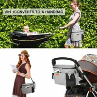 Stroller Pram Pushchair Baby Organiser Mummy Bag Storage Buggy Cup Bottle Je