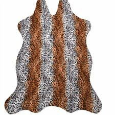 1x Leopard Printed Animal Faux Area Rug Carpet Mat Leather Throw for Home Decor