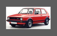 VOLKSWAGEN VW GOLF GTI MK1 (principios de pequeñas Rayas Laterales Parachoques) Twin Calcomanía Kit Set