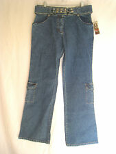 XOXO JEANS • Juniors Sz 7 • Built-In Belt • NWT • $56
