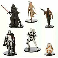 Disney Star Wars The Force Awakens Cake Topper Playset 6 Piece Ages 3+ New Toy