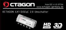 Octágono Optima 4 en 1 Salidas Interruptor de DiSEqC Cubierta para Clima y 3 Año De Garantía