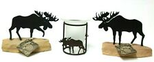 Metal Moose Candle Holder Set Rustic Hunting Game Cabin Lodge Wildlife Decor A5