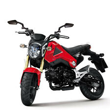 Custom For Honda GROM MSX125 Mirrors BLACK Motorcycle Moped Replacement Pair New