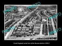 OLD LARGE HISTORIC PHOTO LEEDS ENGLAND AERIAL VIEW OF BEESTON DISTRICT c1950 3