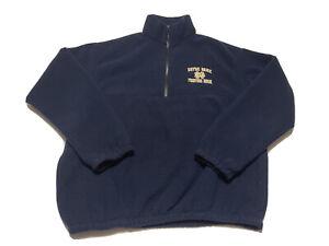 Auburn Sportswear Fleece Jacket Men's L Notre Dame Irish Embroidered Blue Vtg
