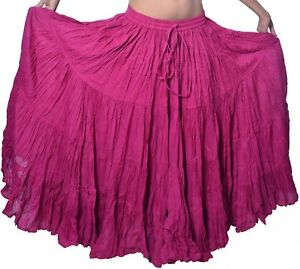 25 yard Tribal Gypsy RENAISSANCE GOTHIC Soft Cotton skirt
