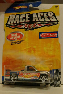 """Hot Wheels Chevy 1500 Chrome Pickup Truck """"Race Aces"""" Only At Target Exclusive"""
