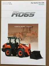 Kubota R065 Wheel Loader Brochure - Very Good Condition