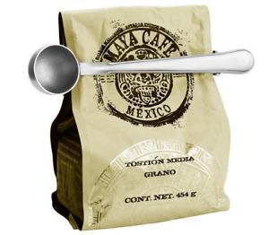 Cuillère Mesure 2 en 1 Doseur Pince Ferme Sachet Ustensile Cuisine Acier Inox